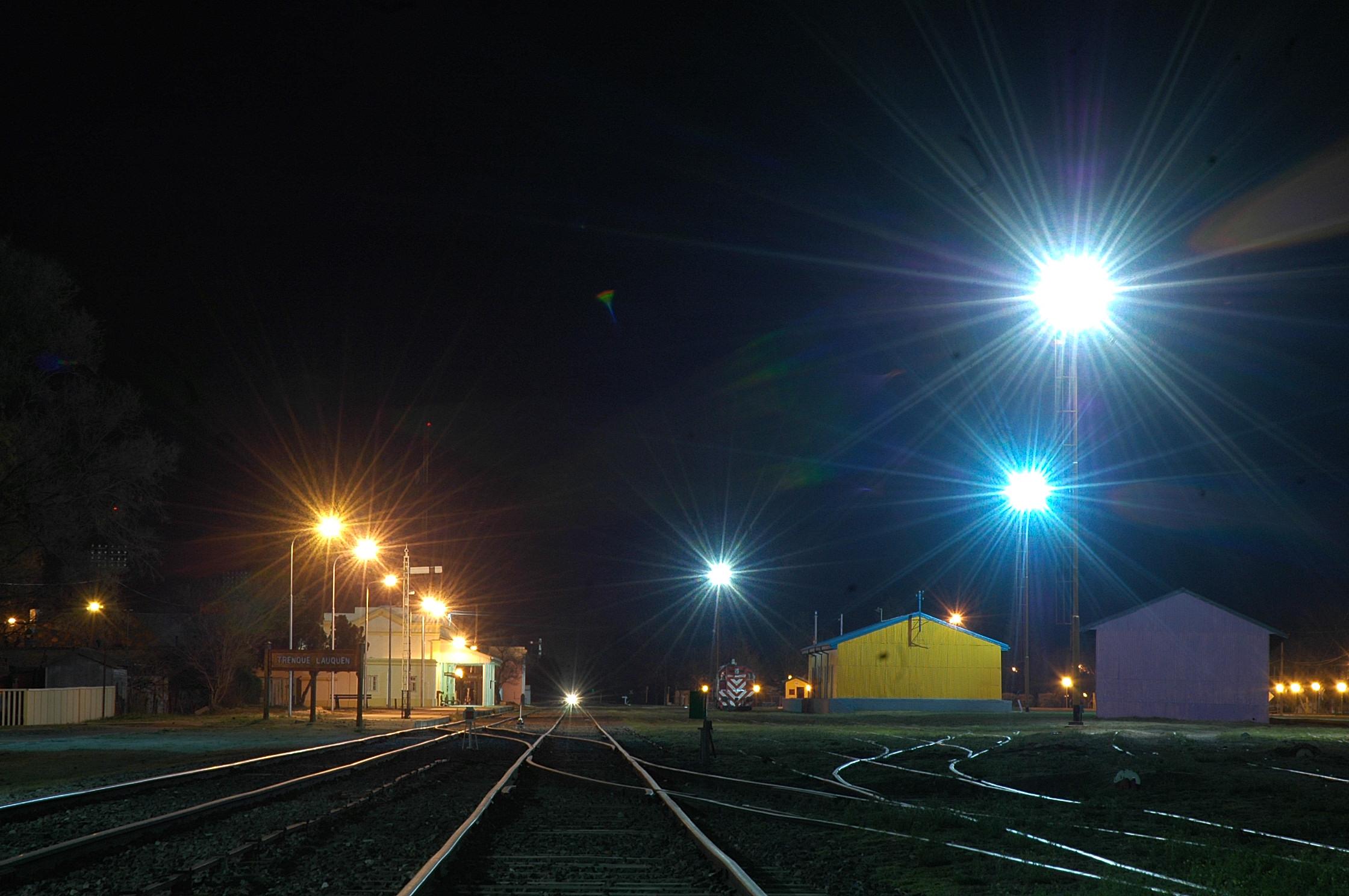 paseo ferroviario nocturna